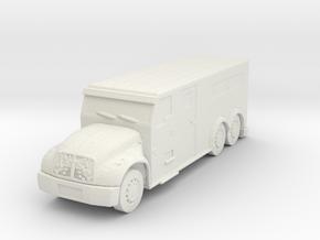 International Armored Truck 6x6 1/100 in White Natural Versatile Plastic