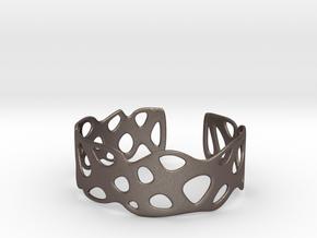 Cellular Bracelet Size L in Polished Bronzed Silver Steel