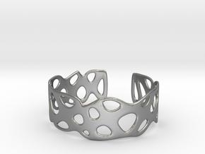 Cellular Bracelet Size L in Natural Silver