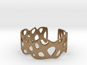 Cellular Bracelet Size S in Natural Brass
