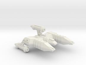 3788 Scale Lyran Refitted Alleycat War Destroyer in White Natural Versatile Plastic