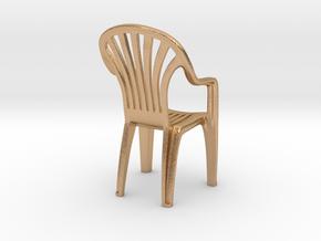 Plastic chair Pendant/miniature (37mm) in Natural Bronze