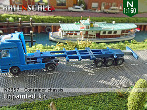 Container chassis (N 1:160) in Smooth Fine Detail Plastic