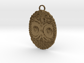 Celtic Tree Pendant in Natural Bronze