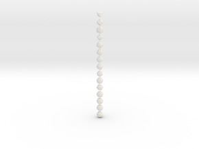 Catalan Solids - 1 Inch - Rounded V1 in White Natural Versatile Plastic