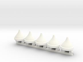 5 x Assyric T1 in White Processed Versatile Plastic