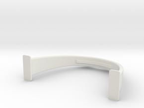 Higgins Radar Mast S0 16th scale support in White Natural Versatile Plastic