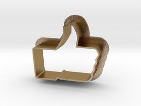 Cookie Cutter LIKE - I like it Logo in Polished Gold Steel