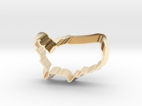 Cookie Cutter USA - Country America  in 14K Yellow Gold