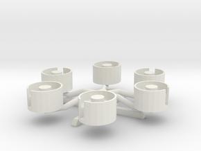 Tubs Of Fun in White Natural Versatile Plastic