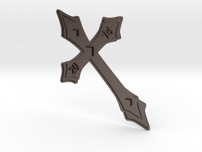 Holy Cross 2014 (Kreuz 2014) in Polished Bronzed Silver Steel