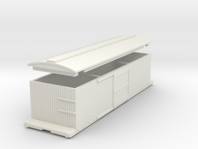 HO Harlan & Hollingsworth 27' Boxcar in White Natural Versatile Plastic