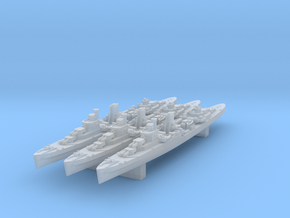 Leander Class x3 (WW2) in Smooth Fine Detail Plastic: 1:4800