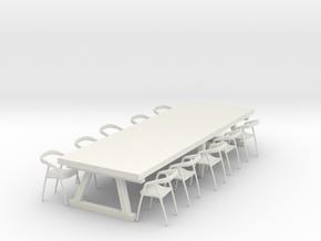 Complete Miniature Dining Suite in White Natural Versatile Plastic