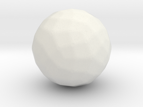 Joined Rhombicosidodecahedron - 1 In - Rounded V2 in White Natural Versatile Plastic