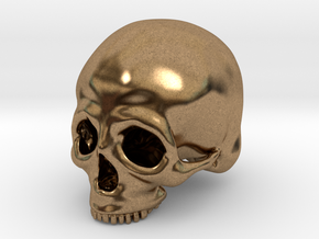 Skull Deko (small) in Natural Brass