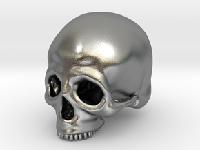 Skull Deko (small) in Raw Silver