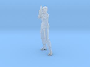 Jill Valentine STARS miniature model games rpg dnd in Smooth Fine Detail Plastic