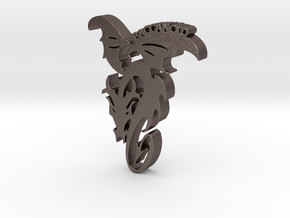 Baccanoid Charm in Polished Bronzed Silver Steel