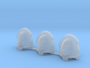 Steel Handed Warriors Bladeguards pads x3 L #2 in Smooth Fine Detail Plastic