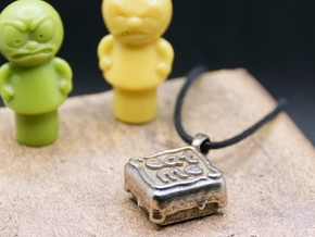 Eat Me Cake - Pendant in Polished Bronzed-Silver Steel