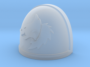 Warhammer 40k McFarlane Space Wolf Shoulder Pad LT in Smooth Fine Detail Plastic