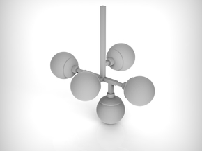 Chandelier 01. 1:24 Scale in Smooth Fine Detail Plastic