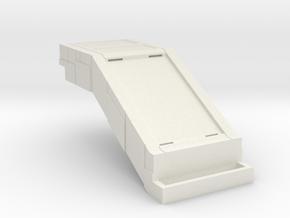 Starcom - Starbase Command - Plattform Stairway in White Natural Versatile Plastic