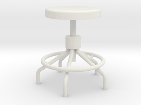 1:24 Sputnick stool in White Natural Versatile Plastic