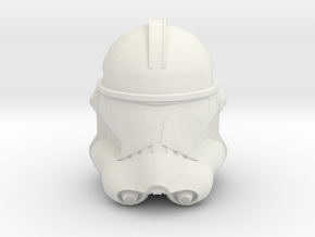 Phase II Clone Helmet | CCBS Scale in White Natural Versatile Plastic