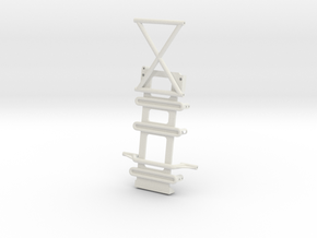 Axial SMT10 Low CG Battery Mount in White Natural Versatile Plastic