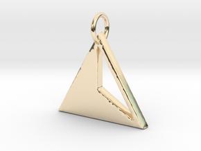 Triangles Pendant- Makom Jewelry in 14k Gold Plated Brass