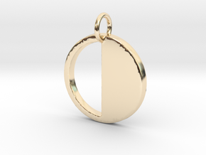 Circle  Pendant- Makom Jewelry in 14k Gold Plated Brass