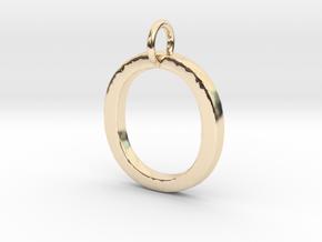 O Pendant- Makom Jewelry in 14k Gold Plated Brass