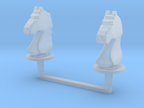 Chess Toppers - 2 Classic Knights in Smooth Fine Detail Plastic