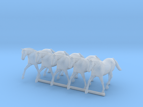 S Scale Trotting Horses in Smooth Fine Detail Plastic