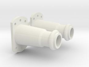 bufferhuls klein in White Natural Versatile Plastic