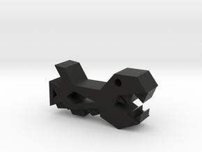 Geometry Dash Space Ship #1 in Black Natural Versatile Plastic