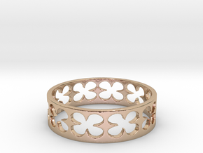 Clovers (Size 10) in 14k Rose Gold