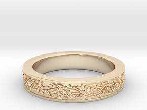 Celtic Wedding Ring 11.5 in 14K Yellow Gold