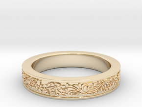 Celtic Wedding Ring 13 in 14K Yellow Gold