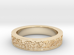 Celtic Wedding Ring 9.5 in 14K Yellow Gold
