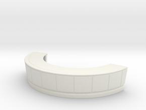 Reception Desk 1/64 in White Natural Versatile Plastic