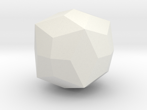 Joined Truncated Octahedron - 1 Inch in White Natural Versatile Plastic