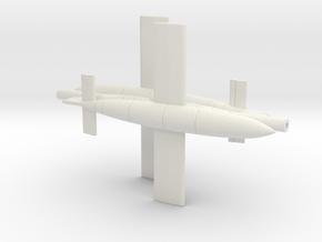 1/144 V1 Rocket set of 2 in White Natural Versatile Plastic