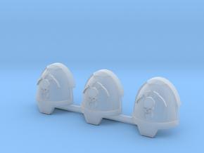 Skull and Scythe Gravus pads x3 R #2 in Smooth Fine Detail Plastic