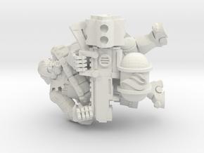 Tekno- Trooper Flamer in White Natural Versatile Plastic