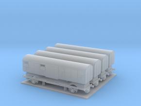 PKP 208 KF GBS 4 cars set T Gauge (1:450) in Smoothest Fine Detail Plastic