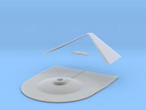 1000 TOS Larson class hull top in Smooth Fine Detail Plastic