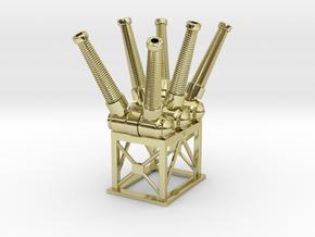 Sulfur Hexafluoride SF6 Electric Circuit Breaker in 18K Yellow Gold: 1:48 - O